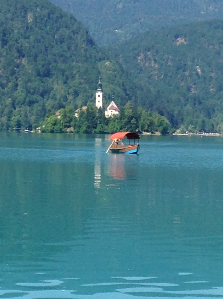 Assumption of Mary church with plenta boat