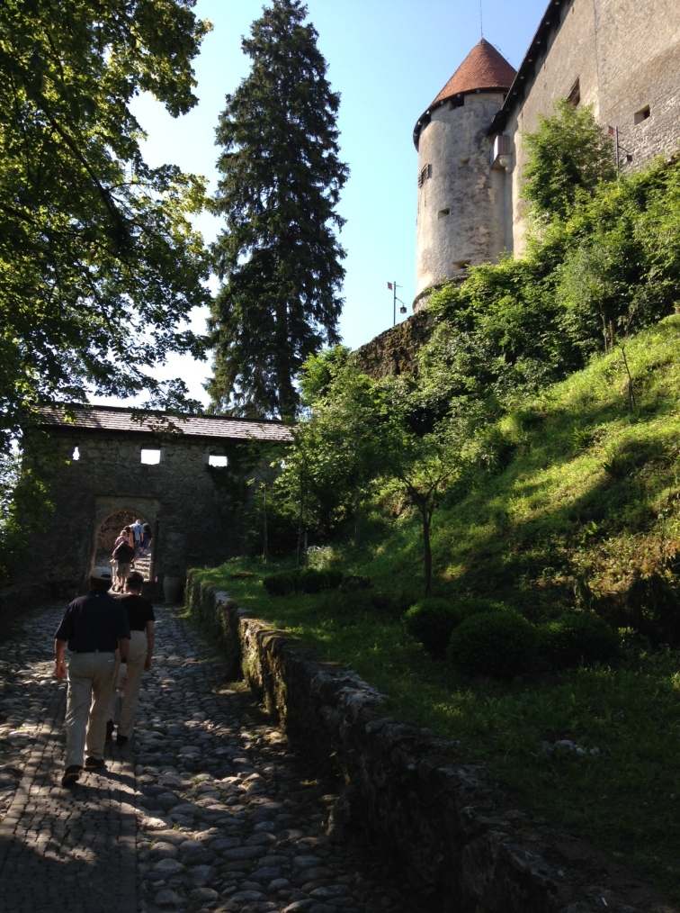 the walk up to the castle
