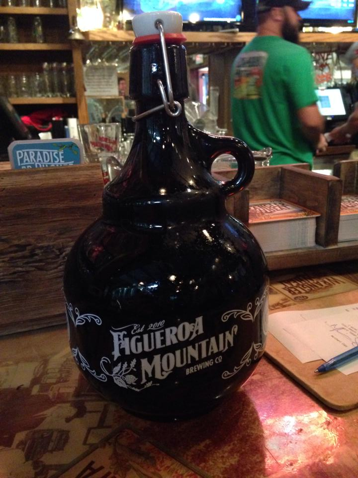 The growler I bought for my beer-nerd husband.