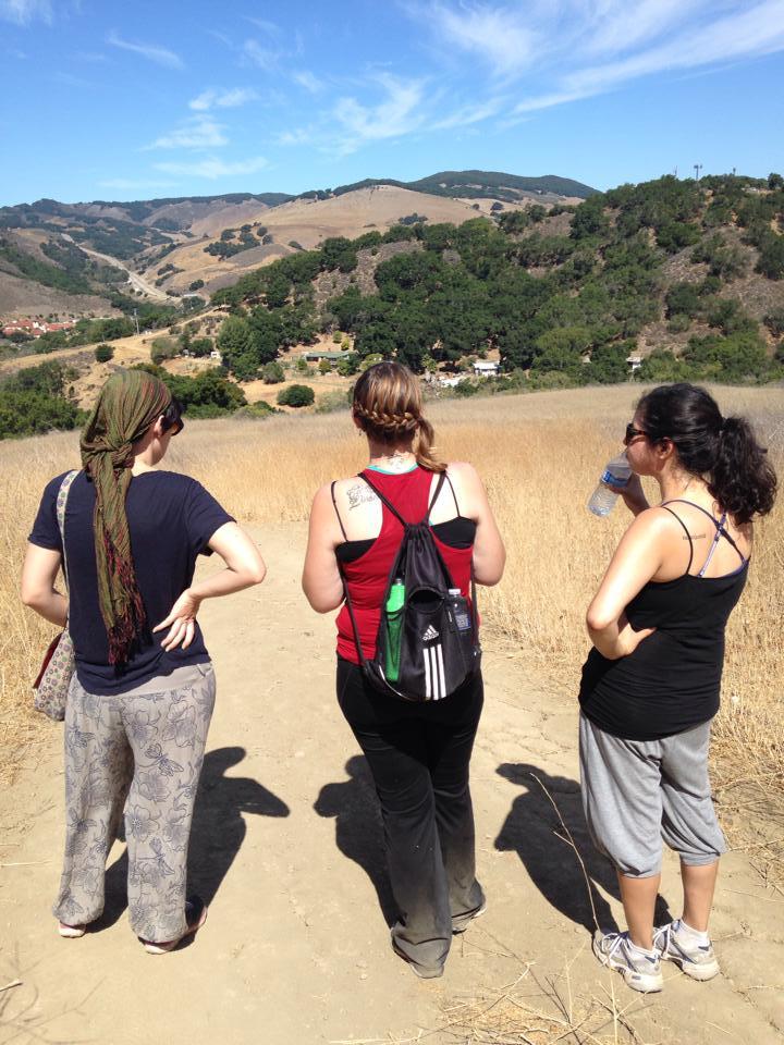 Slightly befuddled hikers.